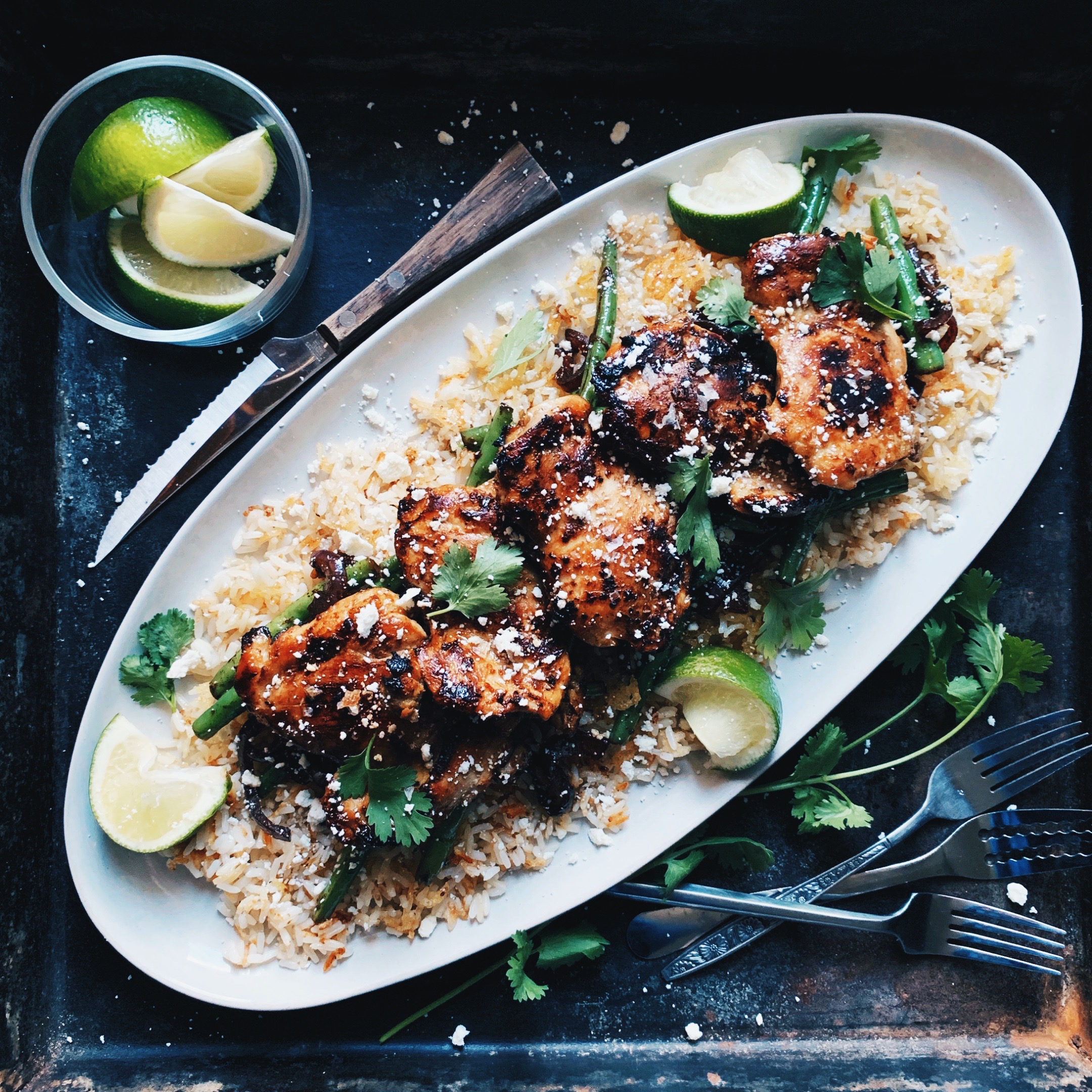 Hangry Honey Lime Cilantro Chicken Thighs